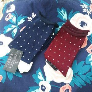 2 pairs of minicci socks